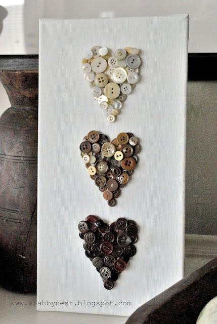trio of hearts canvas