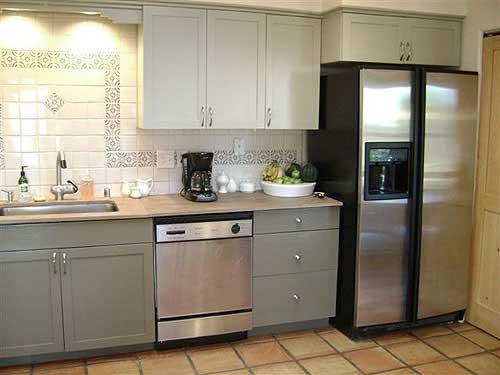 Ideas for painted kitchen cabinets rustic crafts chic for What color to paint my kitchen cabinets