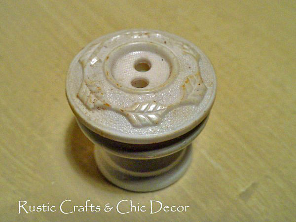 vintage button knob by rustic-crafts.com