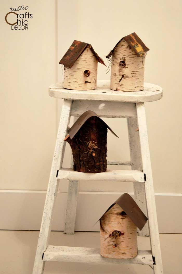 birch birdhouse craft