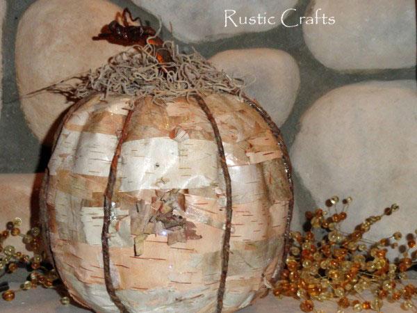 birch pumpkin by rustic-crafts.com
