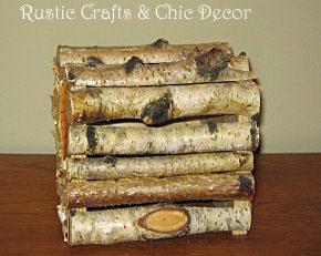 birch tissue box holder by rustic-crafts.com