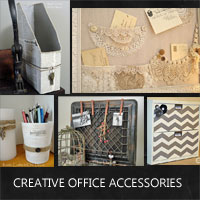 Creative Office Accessories In A Shabby Chic Style