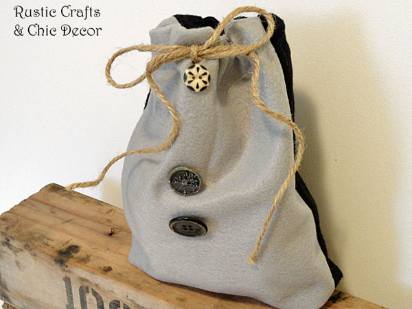 felt gift bag by rustic-crafts.com