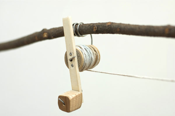 rustic fishing pole