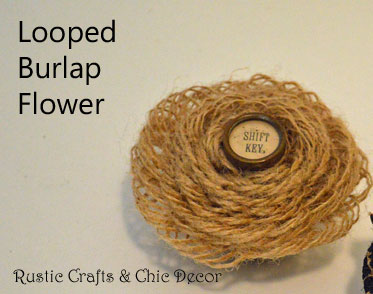 looped burlap flower