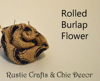 rolled burlap flower by rustic-crafts.com
