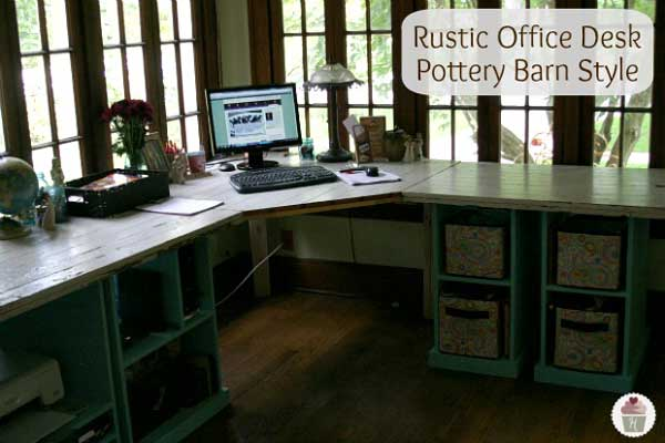 rustic office desk diy
