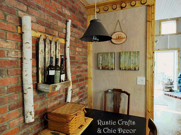 rustic dining room wall by rustic-crafts.com