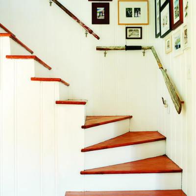 boat oar stair handrail