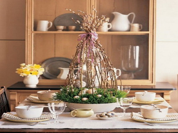 Rustic easter centerpiece ideas rustic crafts chic decor natural easter basket centerpiece negle Image collections
