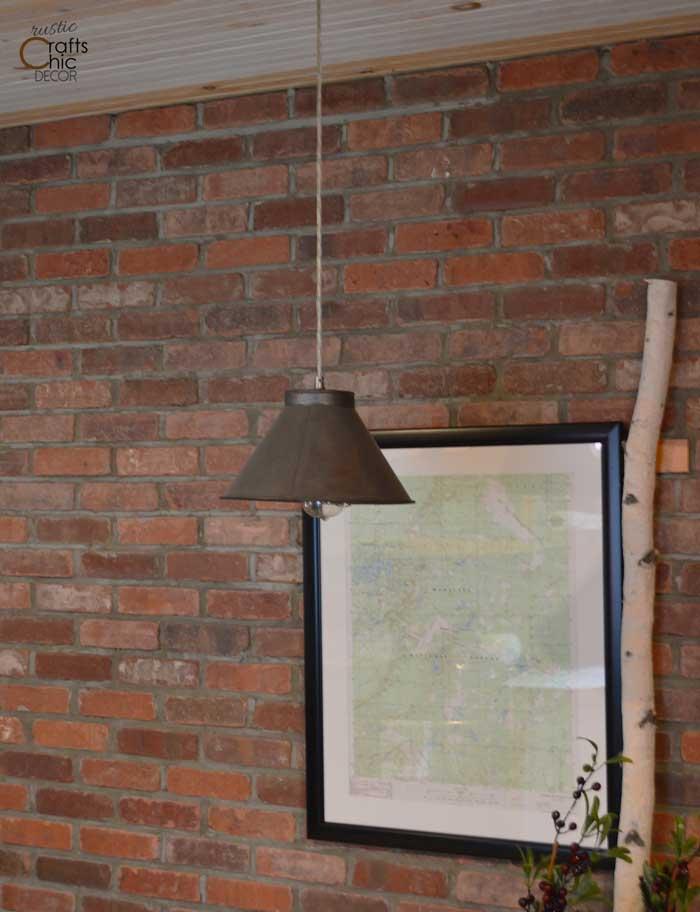 rustic dining room wall
