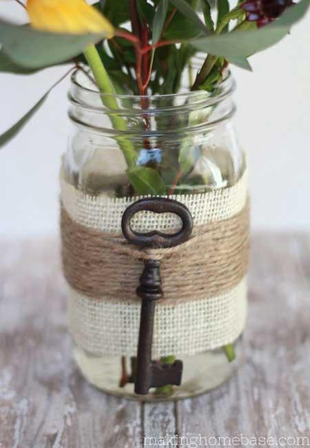 vintage key vase