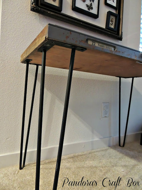 vintage letterpress tray table
