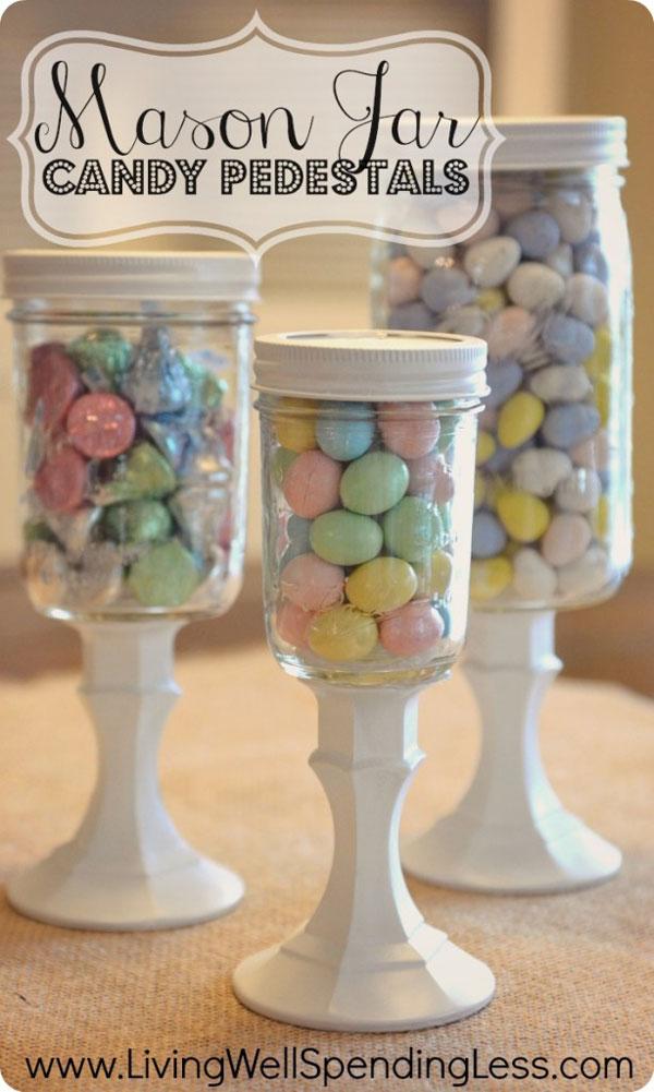 easter candy pedestals