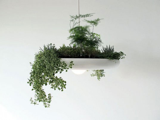 light fixture planter