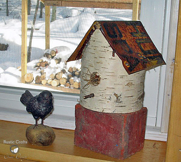 birch birdhouse by rustic-crafts.com