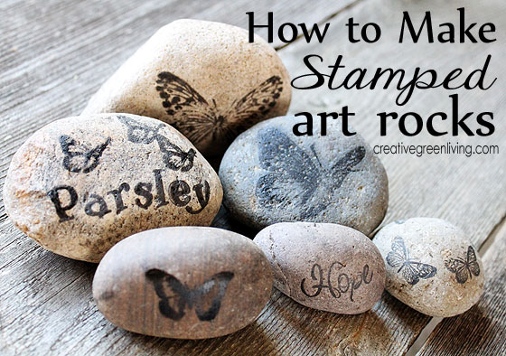stamped art rocks