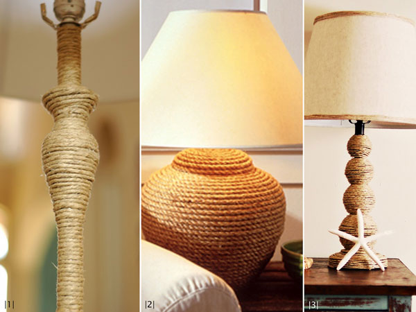 twine lamp bases