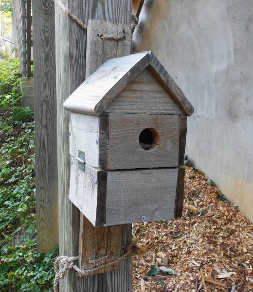 pallet blue bird house
