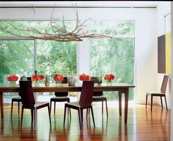 dining room branch decor