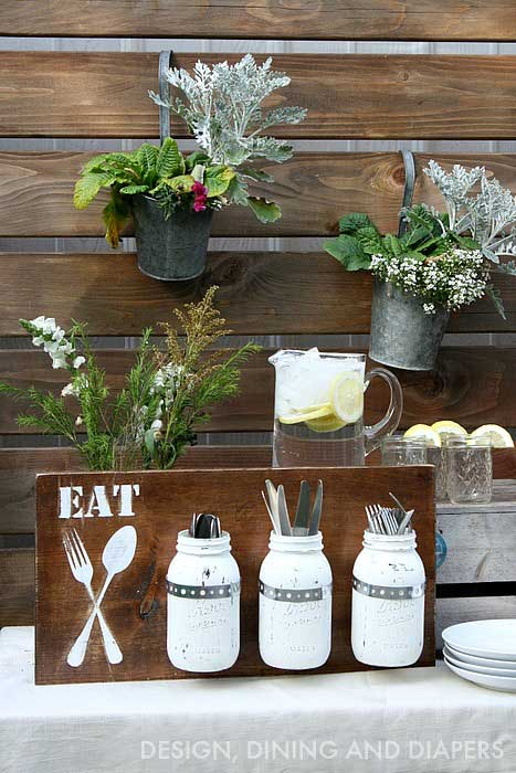 diy silverware holder