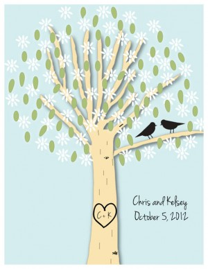wedding tree print