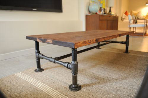 Unique ideas for diy rustic furniture rustic crafts for Rustic pipe table