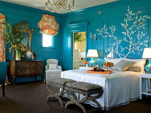 bright blue rustic chic design