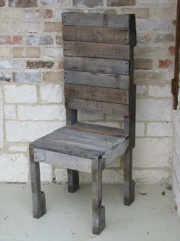 how to build rustic furniture. Pallet Chair How To Build Rustic Furniture