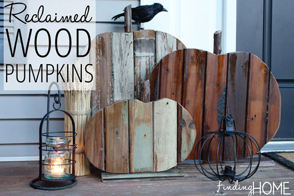 rustic scrap wood pumpkins