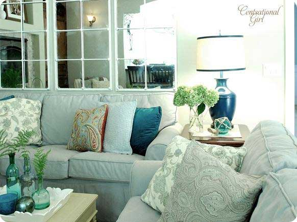 Aqua Living Room Shades Of Blue And Green