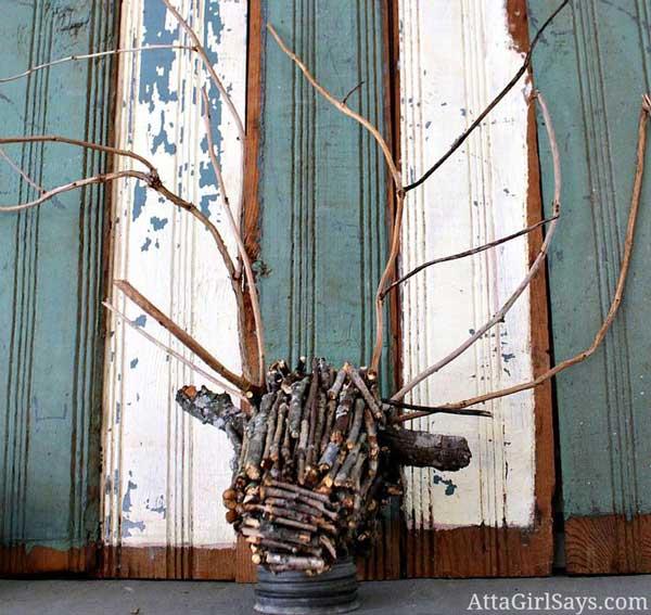 branch deer head