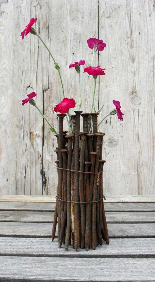 rusty nail vase