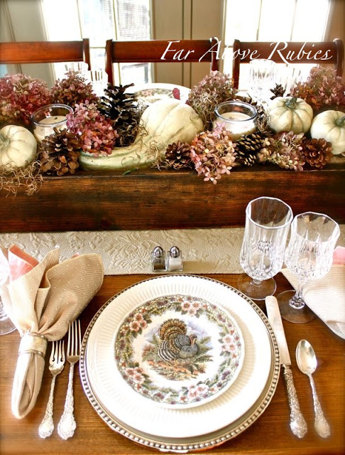 Thanksgiving table decor rustic crafts chic