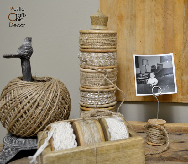 creative photo displays by Rustic Crafts and Chic Decor
