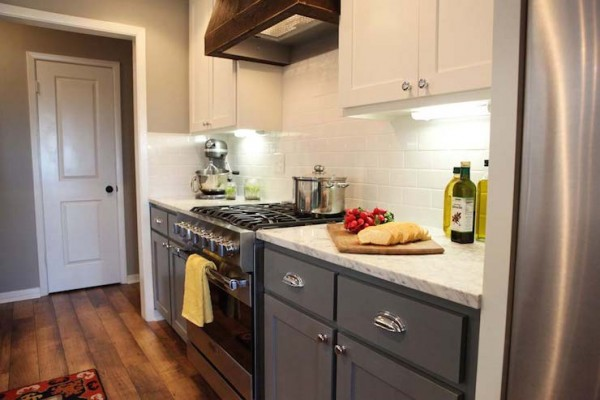 Mismatched Kitchen Cabinets