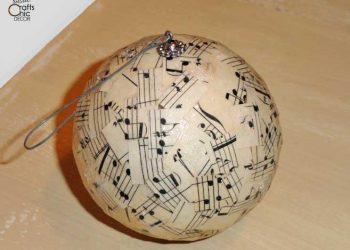 songsheet christmas ornament