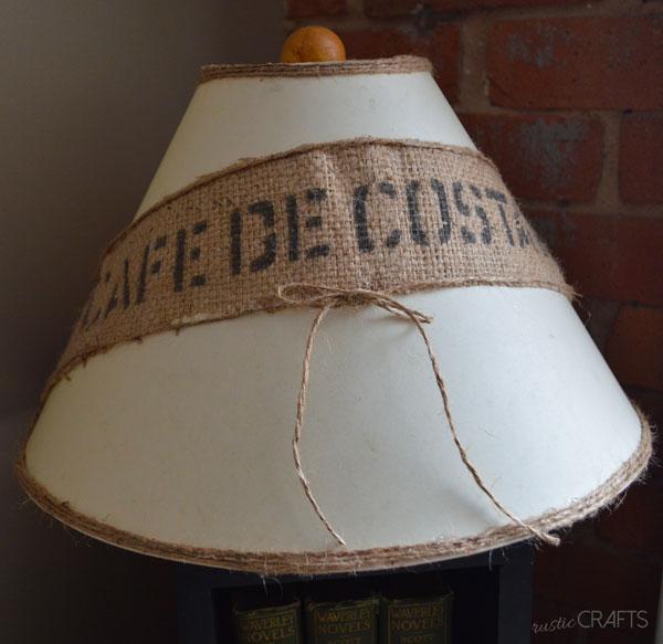 diy rustic lampshade