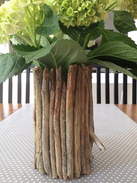 diy rustic vases