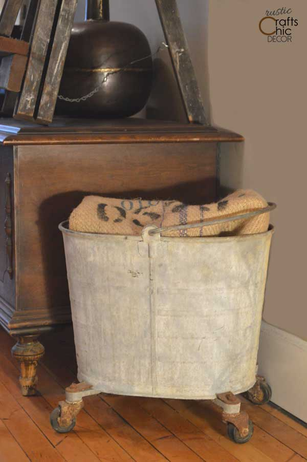 vintage industrial mop bucket