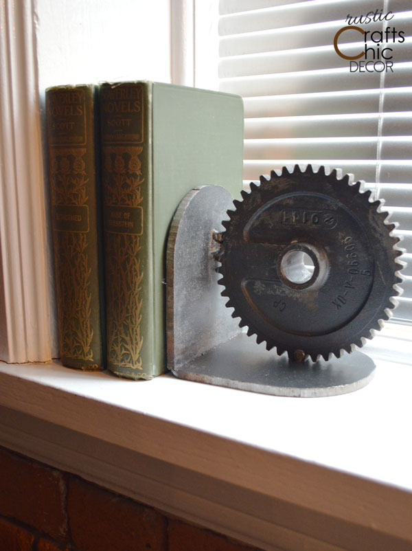 scrap metal bookend