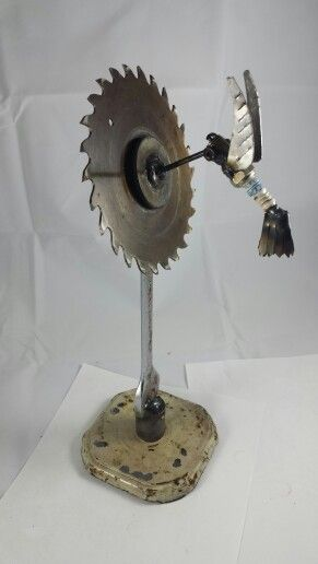 scrap metal hummingbird