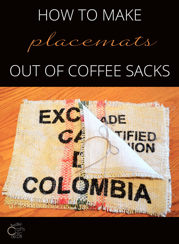 coffee sack placemats