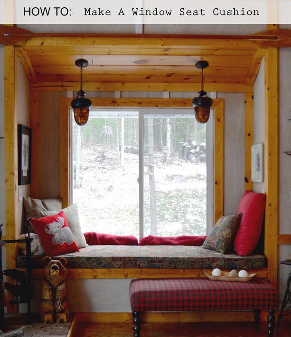 window seat cushion rustic craft