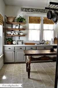 our vintage home love farmhouse kitchen