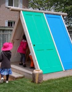 recycled-door-rustic-playhouse