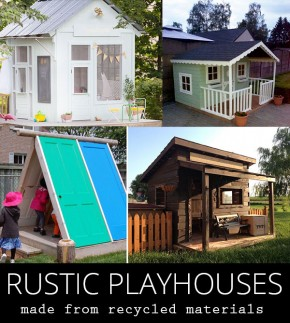 rustic playhouses
