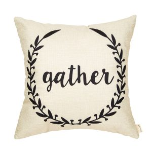 gather throw pillow
