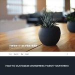 how to customize wordpress twenty seventeen